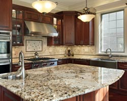 Sink in island granite countertops